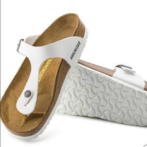 Birkenstock Gizeh Birko-Flor white sandal 40 / 9
